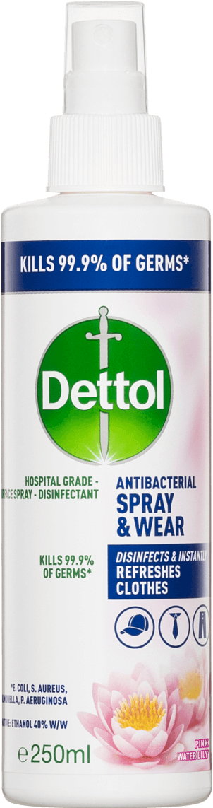 Dettol Antibacterial Spray & Wear Pink Water Lily