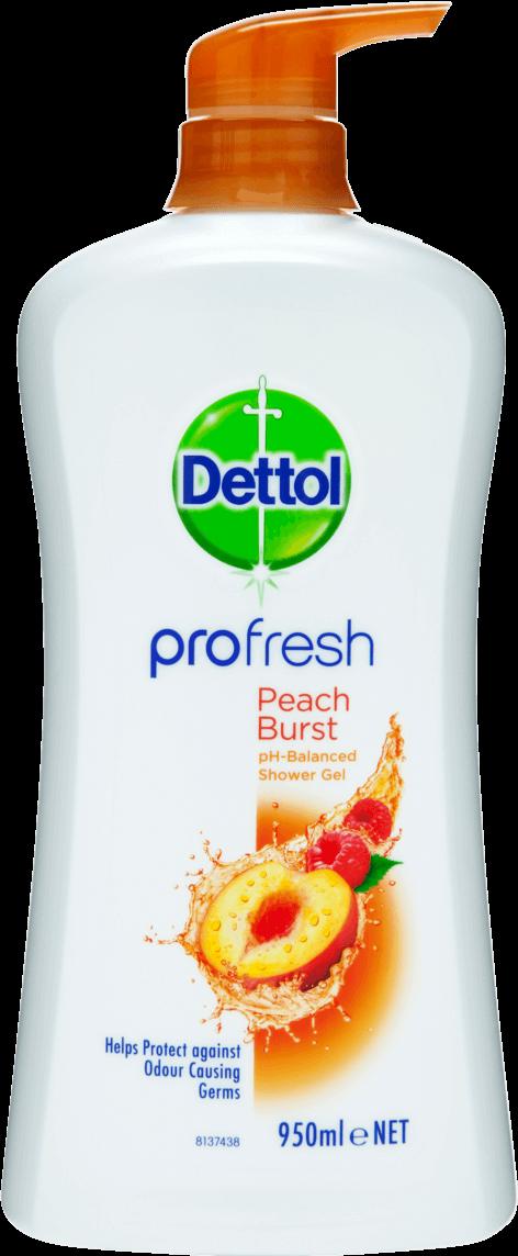 Dettol Profresh Shower Gel Peach & Raspberry