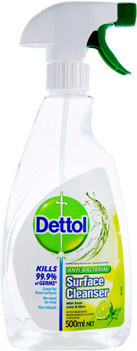 Dettol Antibacterial Surface Cleanser Trigger Spray Lime & Mint Disinfectant